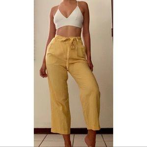 Zara yellow linen pants